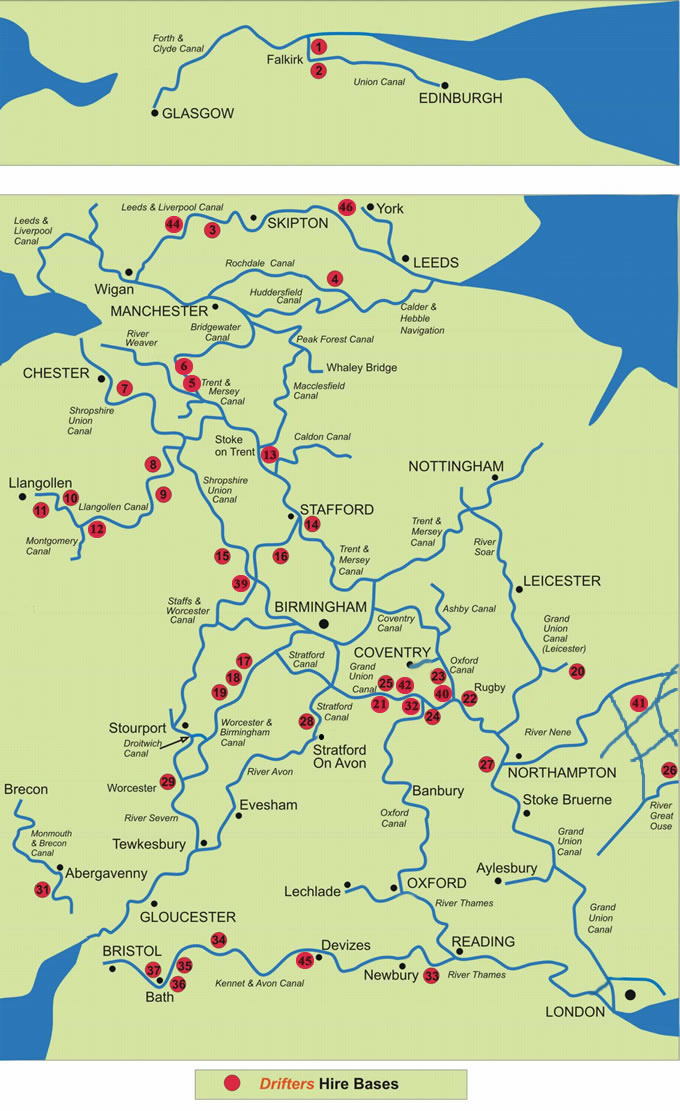 Www Map Of England.Canal Map Of The Waterways Of Uk
