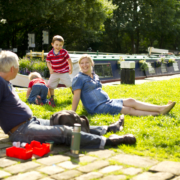 Hire a canal boat for Father's Day