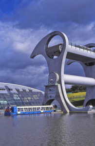 History of the UK canals. Falkirk Wheel - Forth & Clyde Canal