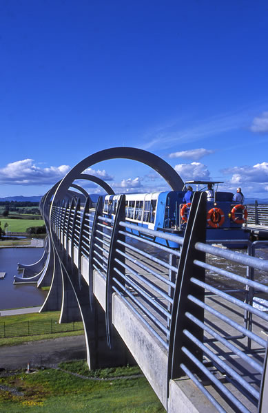 View from above the Falkirk Wheel - Forth & Clyde Canal