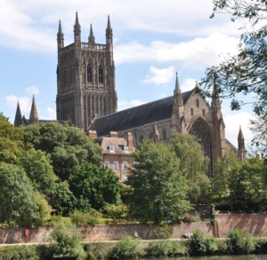 canals of central England, Worcester Cathedral
