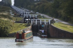 Wiltshire, Kennet and Avon Canal, Caen Locks